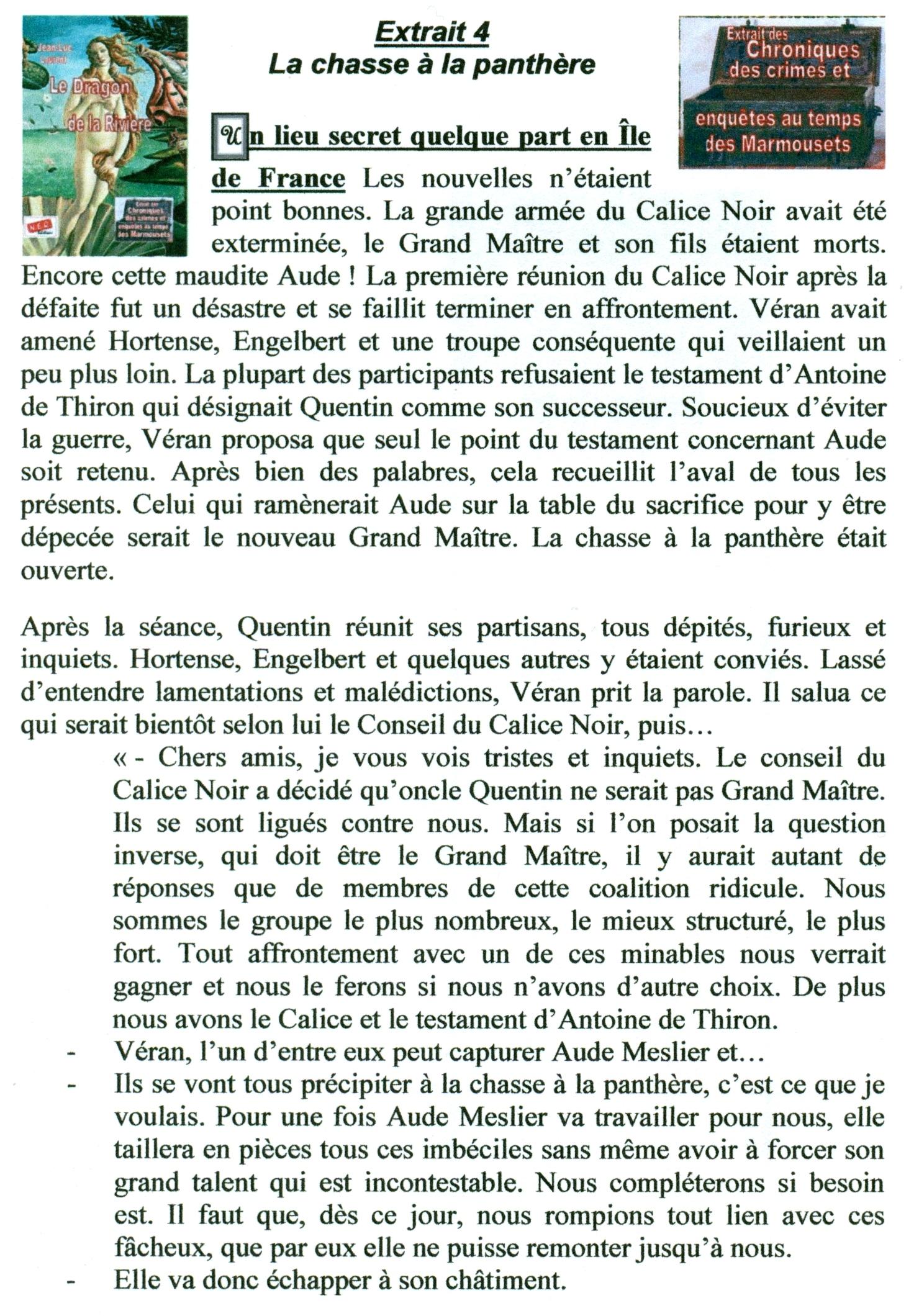 Extrait 4 La Chasse à la Panthère dans extraits numerisation0099