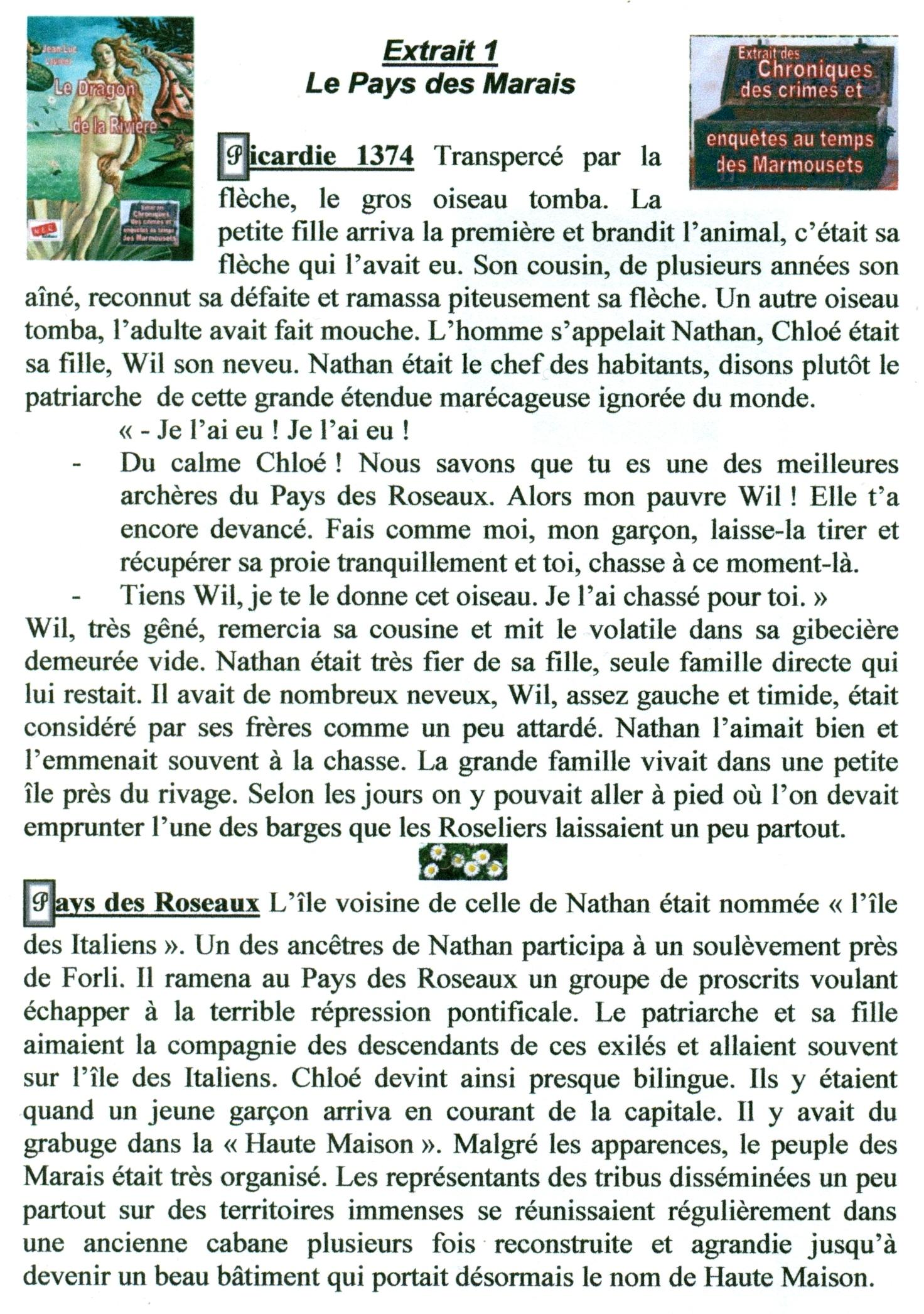 Extrait 1 Le Pays des Marais dans extraits numerisation0091